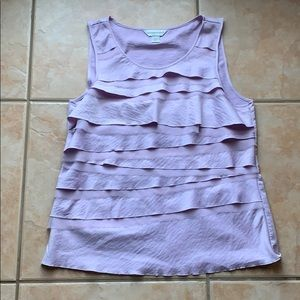 3/$30 Christopher & Banks Lilac Ruffle Tank Medium
